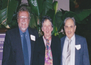 Me, Albert Schatz and his wife Vivian (2002)