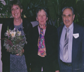 My wife Chris, Vivian and Albert Schatz,April,2002.